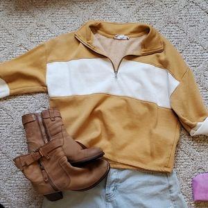 Fall color block pullover